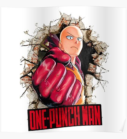 One Punch Man Crash Wall Poster