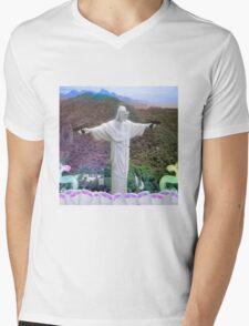 SLVGS Mens V-Neck T-Shirt