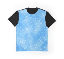 Snow On Blue Sky.. Snow run Graphic T-Shirt