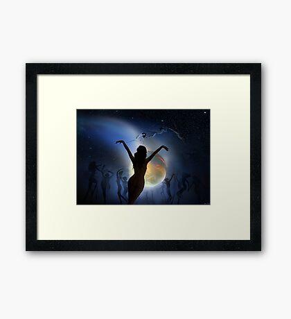 Fury Dance Framed Print