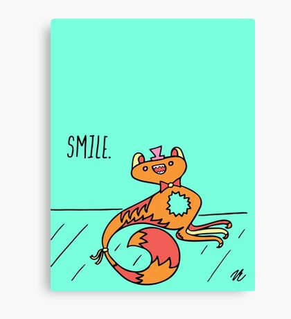 Smile Monster Illustration Canvas Print