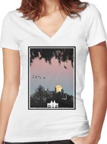 Dornoch Terrace Moonrise Women's Fitted V-Neck T-Shirt