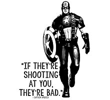 Captain America Marvel Avengers Typography Photographic Print