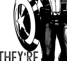 Captain America Marvel Avengers Typography Sticker