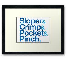 Sloper & Crimp & Pocket & Pinch Framed Print