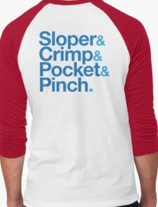 Sloper & Crimp & Pocket & Pinch Men's Baseball ¾ T-Shirt