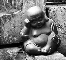 Laughing Buddha Naps  by Ethna Gillespie