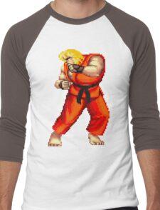 Street Fighter 2 Ken Men's Baseball ¾ T-Shirt