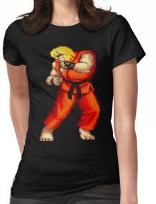 Street Fighter 2 Ken Womens Fitted T-Shirt