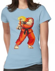 Street Fighter 2 Ken Womens Fitted T-Shirt