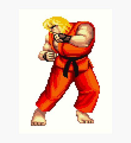 Street Fighter 2 Ken Art Print