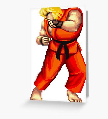 Street Fighter 2 Ken Greeting Card