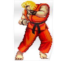 Street Fighter 2 Ken Poster