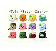 Tofu Flavor Chart Art Print