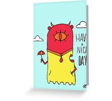 Have a Nice Day Illustration Greeting Card