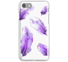 Purple Feathers iPhone Case/Skin
