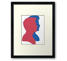 Stiles/Scott Silhouette Framed Print