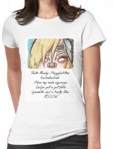 she got them badonkadonks Womens Fitted T-Shirt