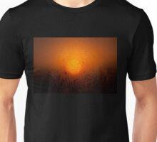 Wet window sunset glow Unisex T-Shirt