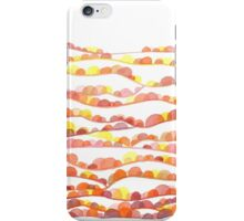 Autumn Valleys Abstract Watercolor Landscape iPhone Case/Skin