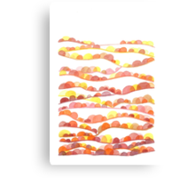 Autumn Valleys Abstract Watercolor Landscape Canvas Print
