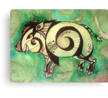 The Year of the Boar Canvas Print