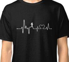 Hearbeat - Pulse - I Love Running Classic T-Shirt