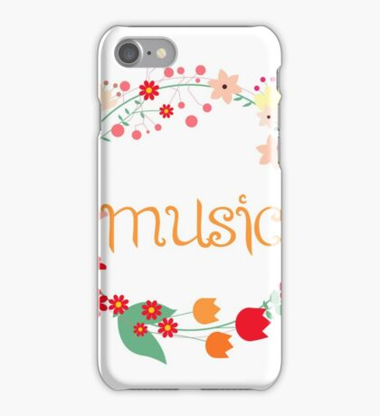 Floral music 2 iPhone Case/Skin
