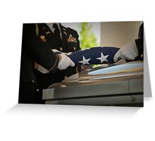 Military Funeral Greeting Card