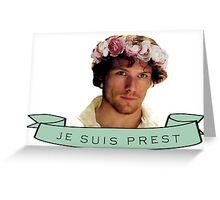 Jamie Fraser Je Suis Prest Flower Crown Greeting Card