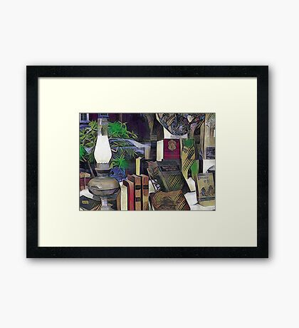 The Old Book Store Framed Print