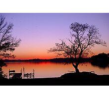 Little Waverly Lake at Sunset Photographic Print