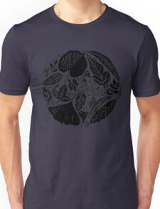 Nature fantasy world, Linocut art Unisex T-Shirt