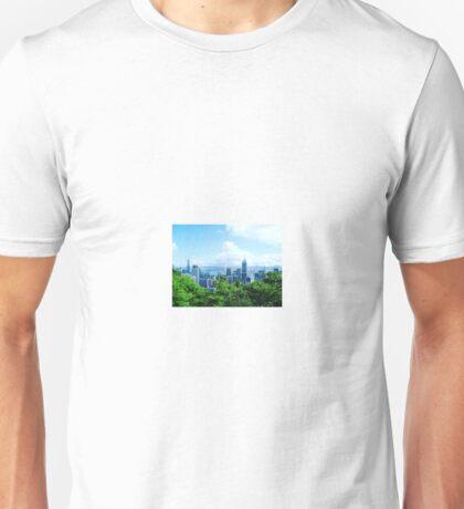 Hong Kong, China City Skyline Unisex T-Shirt