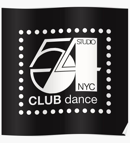 Studio 54 Dance club NYC Poster