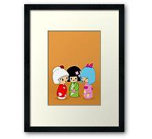 Kokeshi Dolls Framed Print