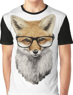 Fox head with glasses Graphic T-Shirt