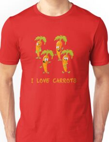 I love carrots, funny vegetables design, gift idea Unisex T-Shirt