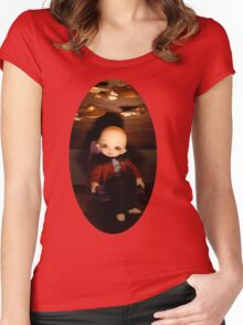 Cute Captain (Oval Version) Women's Fitted Scoop T-Shirt