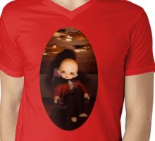 Cute Captain (Oval Version) Mens V-Neck T-Shirt