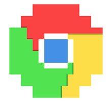 Pixel Chrome Icon by Jacob Thomas