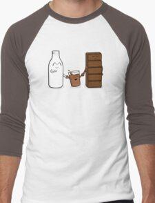 Milk + Chocolate Men's Baseball ¾ T-Shirt