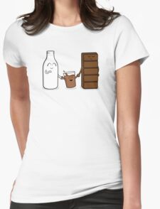 Milk + Chocolate Womens Fitted T-Shirt