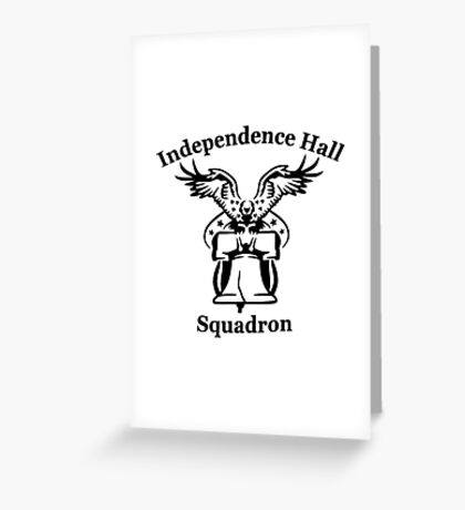 Independence Hall squadron (white) Greeting Card