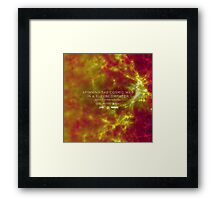 Spinning the Cosmic Web in a Supercomputer Framed Print