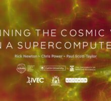 Spinning the Cosmic Web in a Supercomputer Sticker