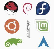 Linux Logo Sticker Set by Jacob Thomas