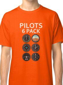 Pilots Six Pack Airplane Instruments Classic T-Shirt