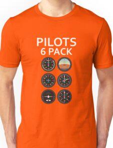 Pilots Six Pack Airplane Instruments Unisex T-Shirt