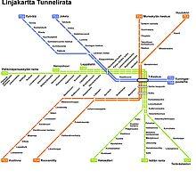 Linjakartta Tunnelirata by TUKHOLMA